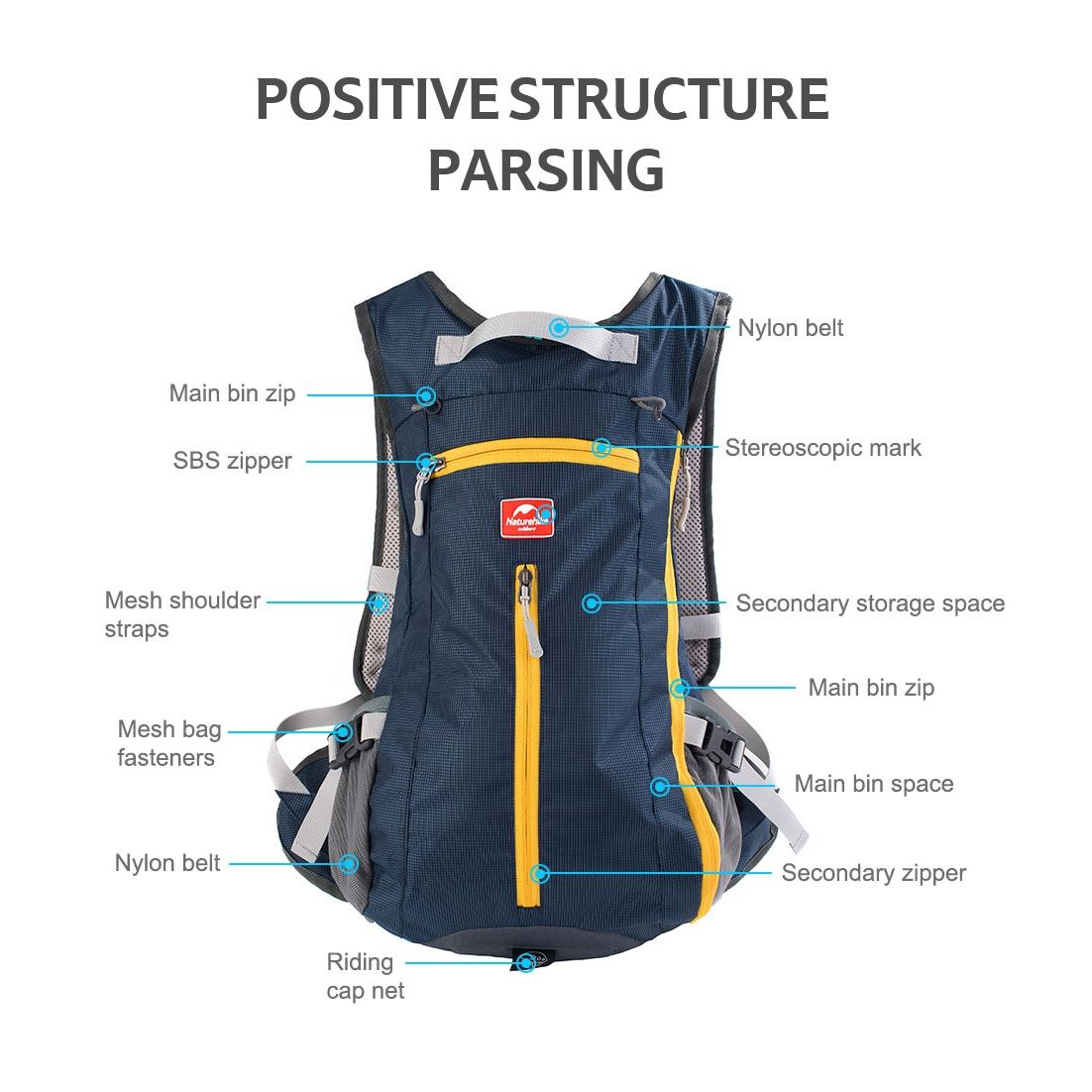 Naturehike Ultralight Cycling Backpack 15L
