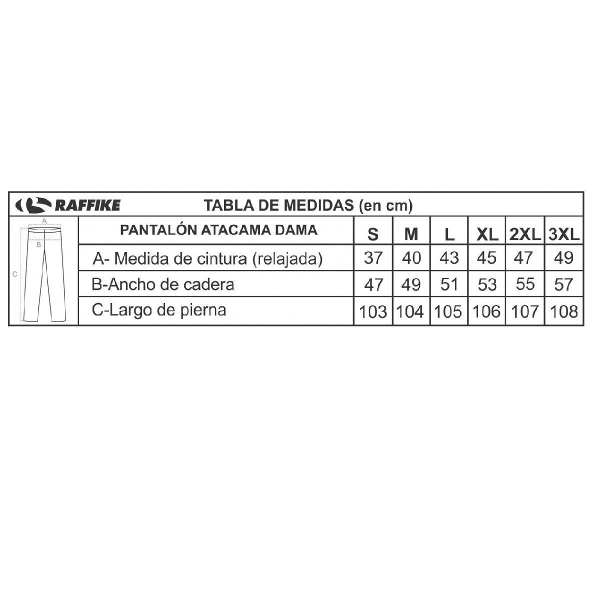 Pantalón Raffike Atacama DAMA- repelente a los mosquitos