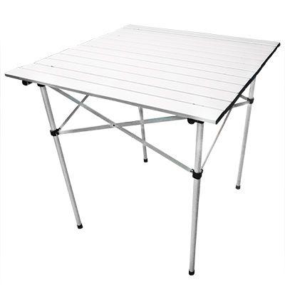 Coleman mesa plegable aluminio naka outdoors tienda de for Mesa de camping plegable de aluminio