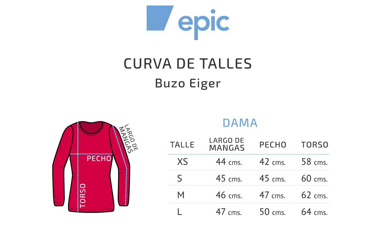 Epic Micropolar Buzo Eiger Half Zip Dama