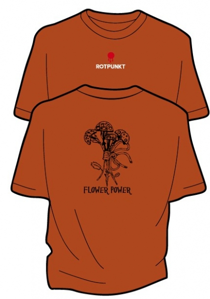 Remera Rotpunkt modelo Flower Power